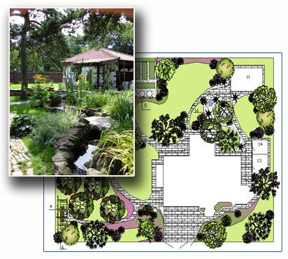 Ландшафтный проект и дизайн ресторана